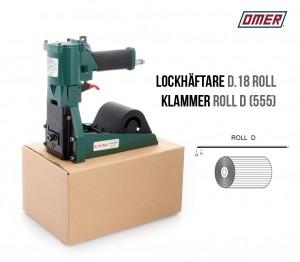 Lockhäftare D.18 Roll Pneumatisk-klammer D eller 555 Kartonghäftare