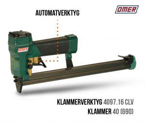 Klammerverktyg 4097.16 clv Automatverktyg långt magasin