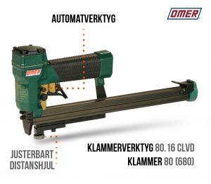 klammerverktyg 80.16 clvd automatverktyg långt magasin