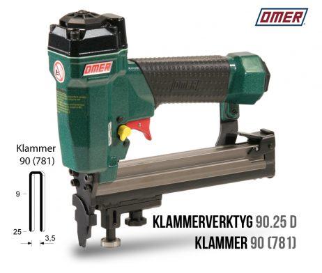 Klammerverktyg 90.25 D klammer 90 eller 781