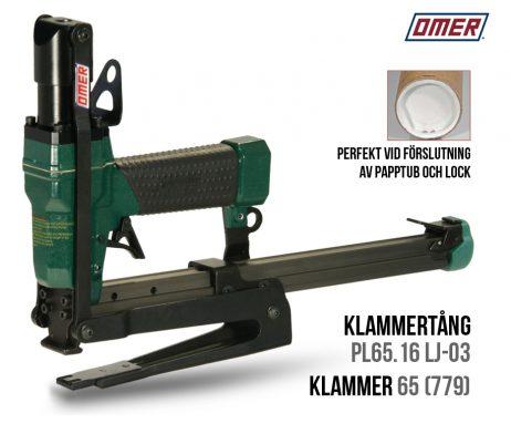 Klammertång PL 65.16 LJ-03 papptuber för klammer 65
