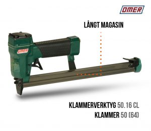 Klammerverktyg 50.16 cl långt magasin-klammer 50 och jk64