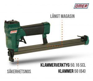 Klammerverktyg 50.16 SCL säkerhetsnos långt magasin