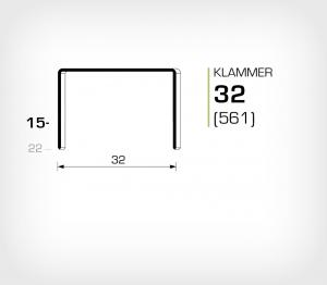 Klammer 32/15 Koppar - jk561-15