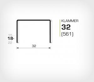Klammer 32/18 Koppar - jk561-18