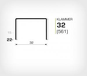 Klammer 32/22 Koppar - jk561-22