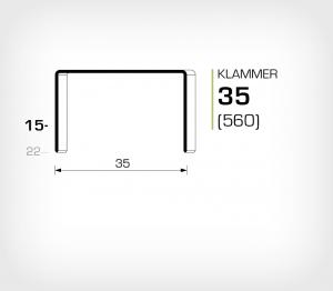 Klammer 35/15 Koppar - jk560-15