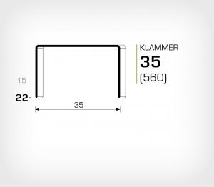 Klammer 35/22 Koppar - jk560-22