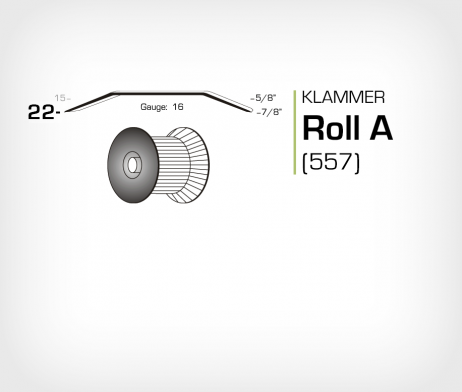 Klammer Roll A/22 Koppar - jk557-22
