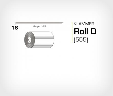 Klammer Roll D/18 Koppar - jk555-18