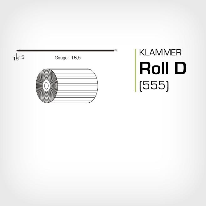Klammer Roll D/15 och D/18 lika med JK555